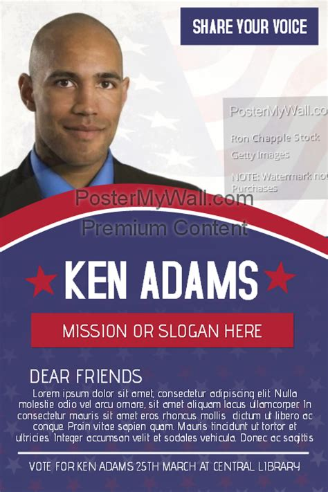 election caign poster template political voting caign flyer template postermywall