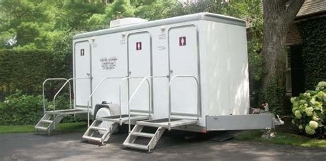 portable bathroom rentals for weddings portable restroom trailers new and used for sale