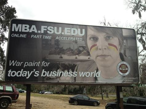 Fsu Mba new billboard for florida state s mba program