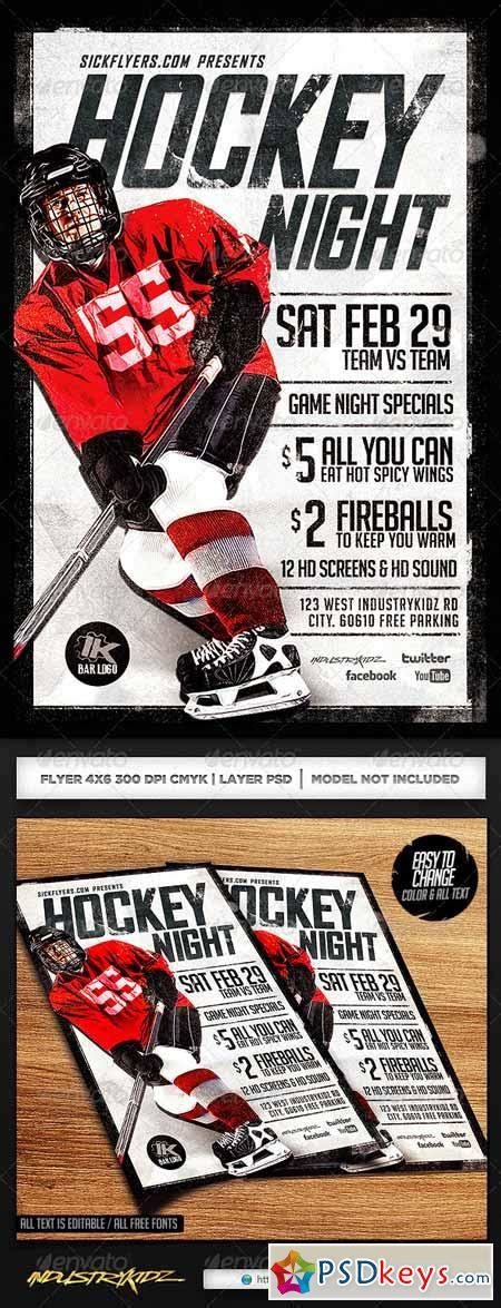 hockey flyer template hockey 187 free photoshop vector stock image via