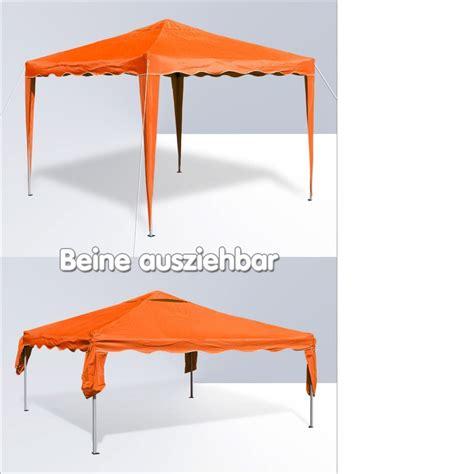 pavillon 3x3 meter gartenpavillon faltpavillon alu metall 3x3 meter orange