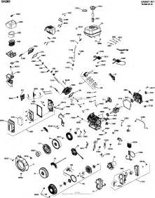 kohler sh265 1000 oem spec 6 5 hp 4 8 kw parts diagram