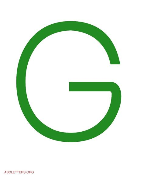 The Letter G In Green   www.pixshark.com   Images