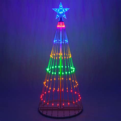 christmas tree lights multicolor led animated outdoor lightshow tree