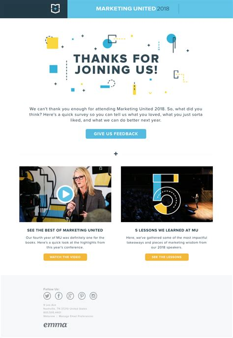 Event Email Marketing Best Market Place Email Caign Templates