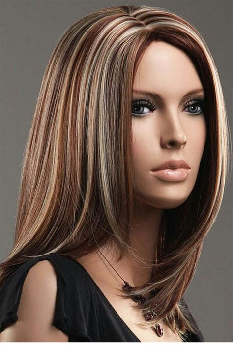 crimson obsession on dark brown hair red highlights with blonde highlights with brown hair