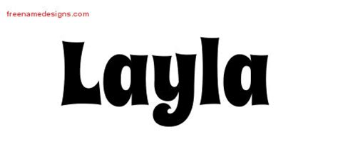 layla tattoo designs groovy name designs layla free lettering free