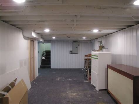 house dash home basement remodel painting  exposed