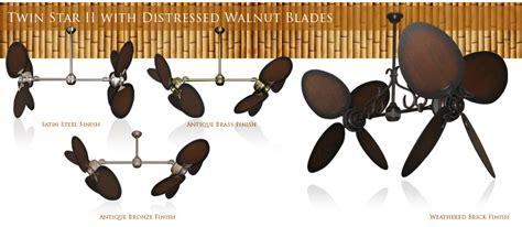 distressed wood ceiling fan 50 inch double twin star ceiling fan with distressed