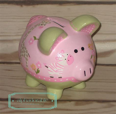 Alphadorable Custom Painted Piggy Banks To Match