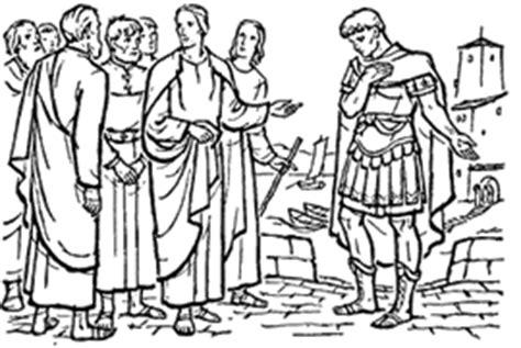 coloring page jesus heals centurion s servant centurion servant colouring pages
