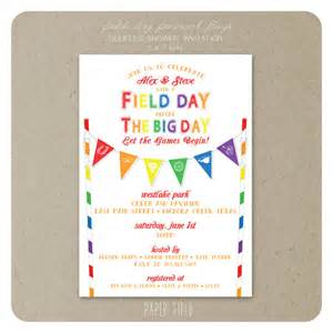 items similar to field day couples shower invitation