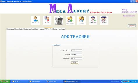 student management system in asp net