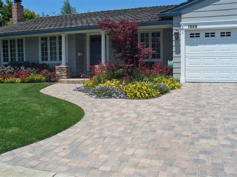 pavers front yard interlocking pavers front yard