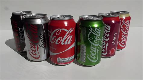 The Flavours Of 6 coca cola flavors
