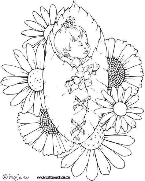 coloring page of a baby girl adult coloring pages bing images pics for cards