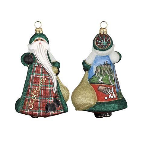 scottish tartan santa christmas ornament gump s