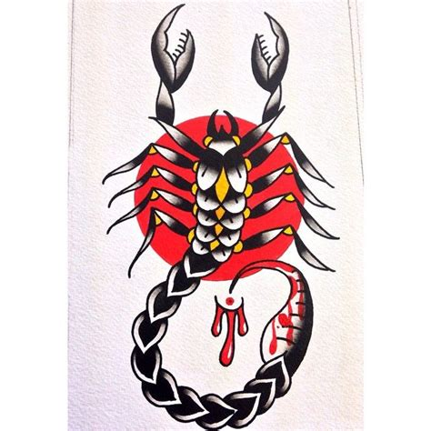 traditional scorpion tattoo scorpion traditional scorpion tattoos