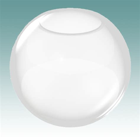 8472 clear neckless globe 3 1 4 quot x 6 quot glass lshades