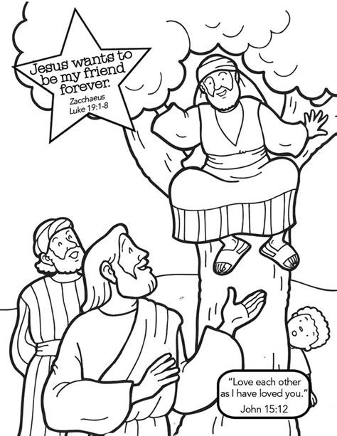 Free Coloring Pages Of Story Of Zacchaeus