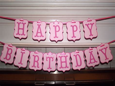 banner happy birthday pink pink happy birthday banner pink banner by creativepartybanners