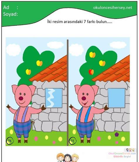Ya Fark Bulma Oyunlar Cretsiz 3 Ya Fark Bulma Oyunlar Oyna   resimler arasındaki yedi farkı bul 13 preschool activity