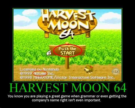 Harvest Moon Meme - love hm64 classic gaming pinterest