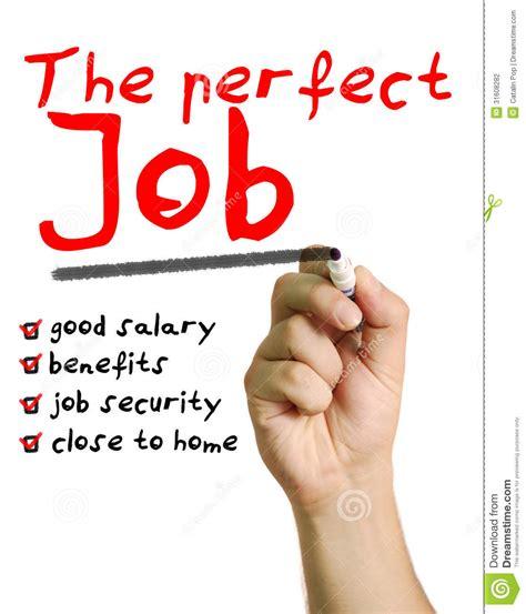 comfortable salary the perfect job stock photography image 31608282