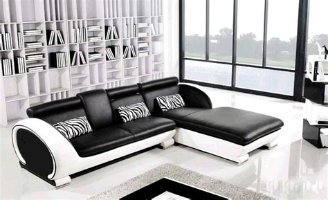 Black And White Chair And Ottoman Design Ideas Modern L Shaped Sofa Designs For Awesome Living Room Furniture