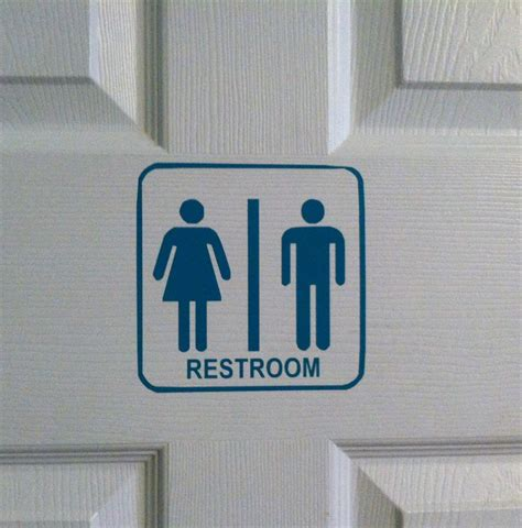 cute vinyl restroom signs use for your home or business