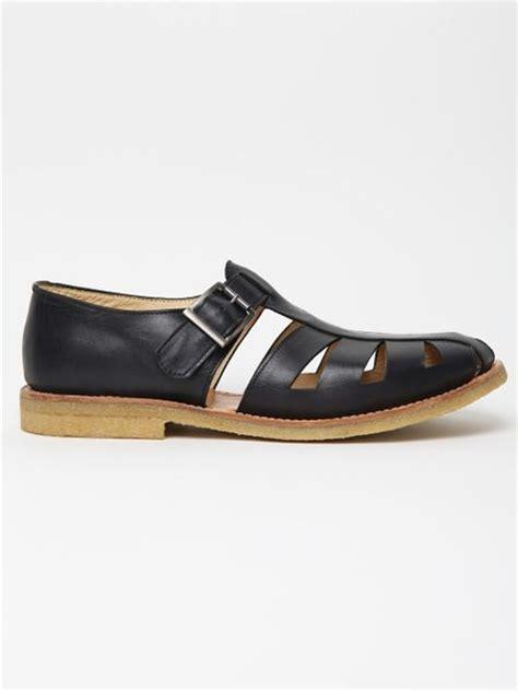ymc shoes ymc ymc mens leather sandal in blue for navy lyst