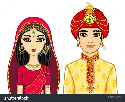 Indian Wedding Animation by Indian And Groom Clipart Clipground
