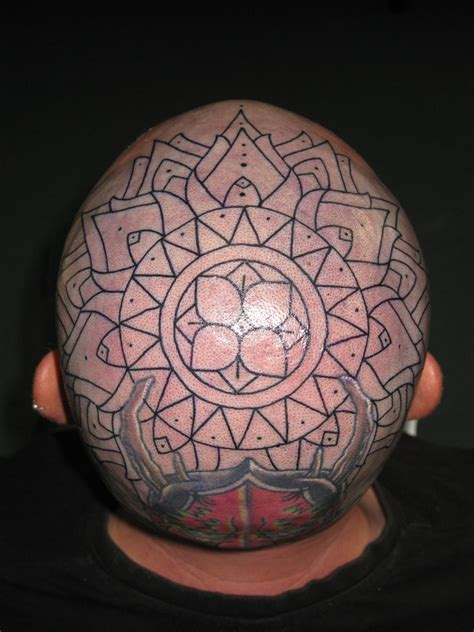 mandala head tattoo images designs