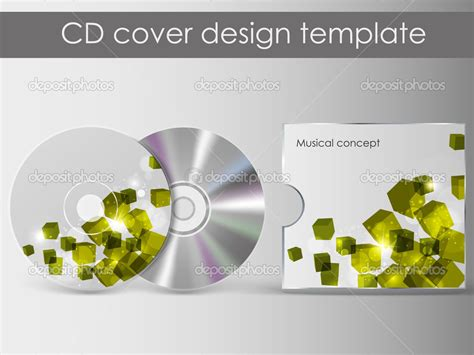 cd cover design with 3d presentation template everything