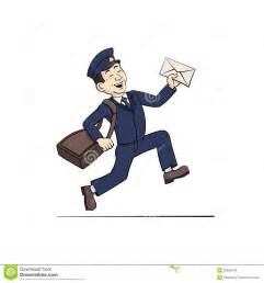 funny postman letter royalty free stock images image 30656549
