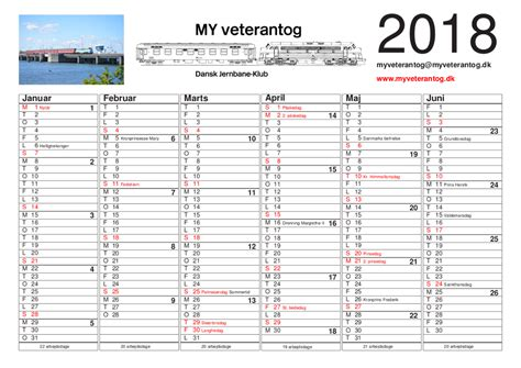 format kalender 2018 my veterantog dansk jernbane klub