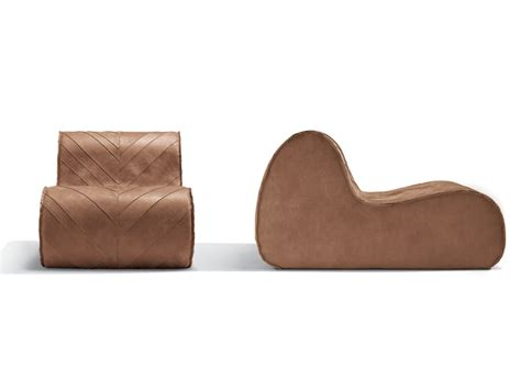 virgola leather armchair by missoni home