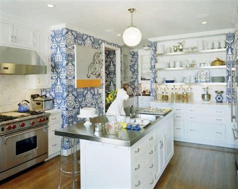 white blue kitchen tory burch s kitchen blue white home ii pinterest