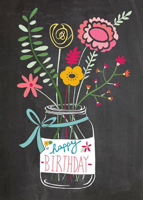 printable chalkboard flowers happy birthday chalkboard