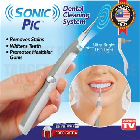 sonic pic dental cleaning system tee    pm