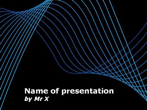 Blaue Powerpoint Vorlage blaue kurven auf tafel powerpoint vorlage power point