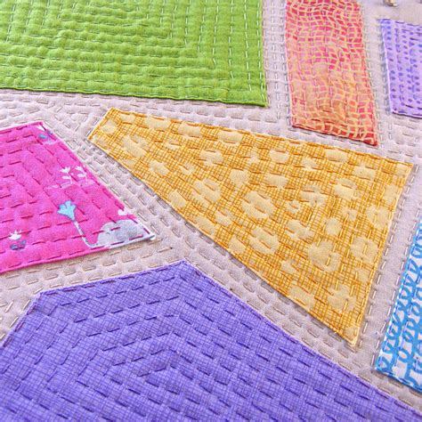 Patchwork And Stitching - free pattern big stitch polkadot coasters shiny happy world