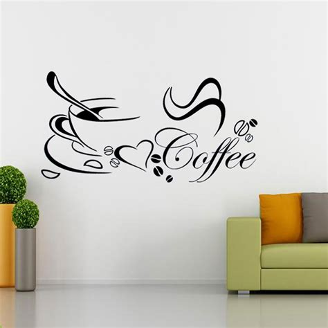 b q wall stickers diy removable coffee cup quote word decal vinyl home