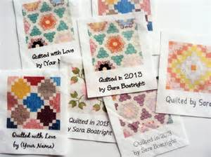 custom quilt labels 8 large personalized fabric tags by