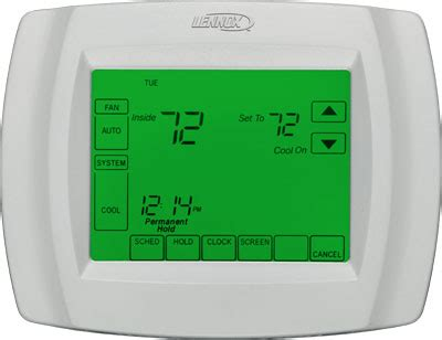 mm comfort systems lennox comfortsense 174 5000 series touchscreen thermostat