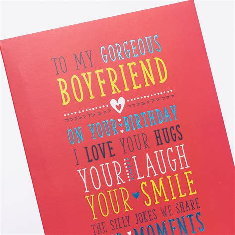 card for boyfriend birthday card for my boyfriend only 89p