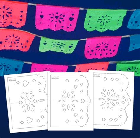 Easy Diy Papel Picado Templates Printable Craft Ideas For Day Of The Dead Free Printable Papel Picado Template
