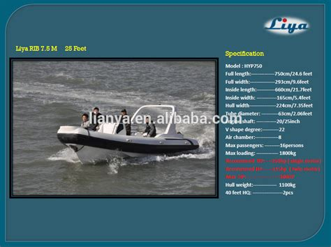 liya 7 5 m china rib inflatable boats manufacturers buy - Rib Boat Manufacturers Europe