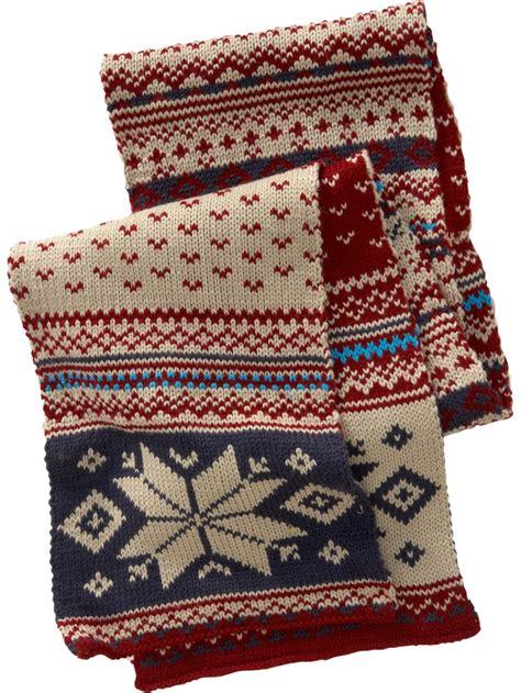 knitting pattern fair isle scarf fair isle scarf fair isle style pinterest