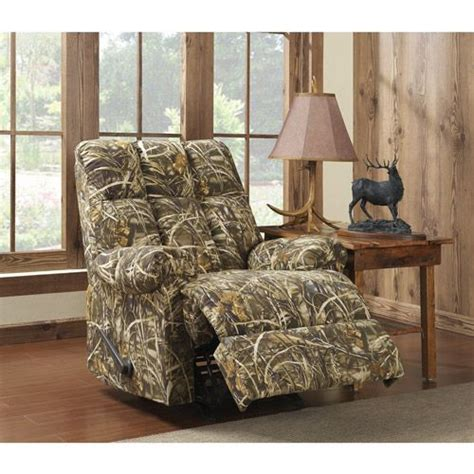 camo rocker recliner chairs realtree camouflage rocker recliner